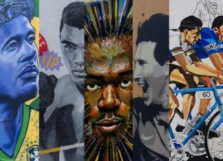 I migliori murales dei grandi personaggi dello sport