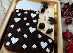 Ricetta della Torta Calza della befana al cioccolato e cocco