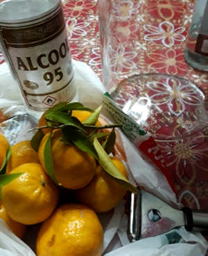 Ingredienti Liquore al mandarino fatto in casa o mandarinetto
