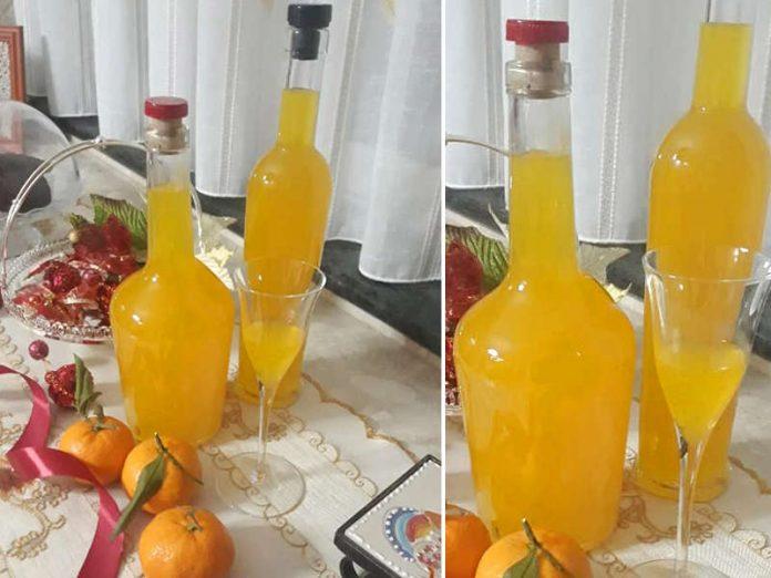 Liquore al mandarino fatto in casa o mandarinetto