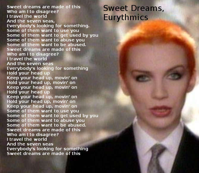 Testo Sweet Dreams (Are Made of This) Eurythmics