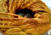 Torta Angelica senza burro con purea di mele, cannella e uvetta integrale