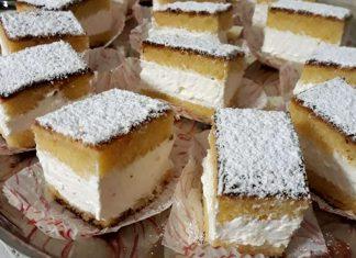 Torta Paradiso senza burro farcita con crema al latte