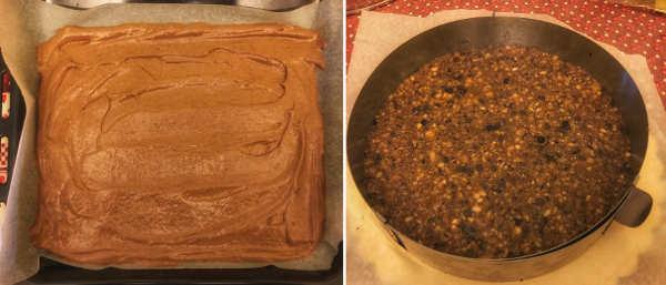Preparazione Torta ai frutti di bosco con crema alla vaniglia e frutta secca