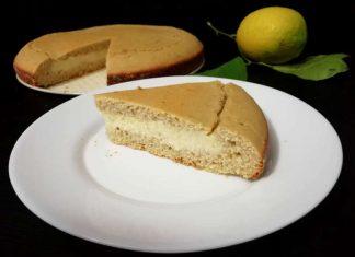 Torta con crema al limone senza glutine a ridotto indice glicemico