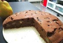 Torta pere e cioccolato senza glutine a ridotto indice glicemico