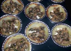 15 Torta salata mono porzione ai funghi con sfoglia senza glutine