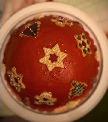 Ingredienti Zuccotto di Natale ricotta e cioccolato con pan di Spagna