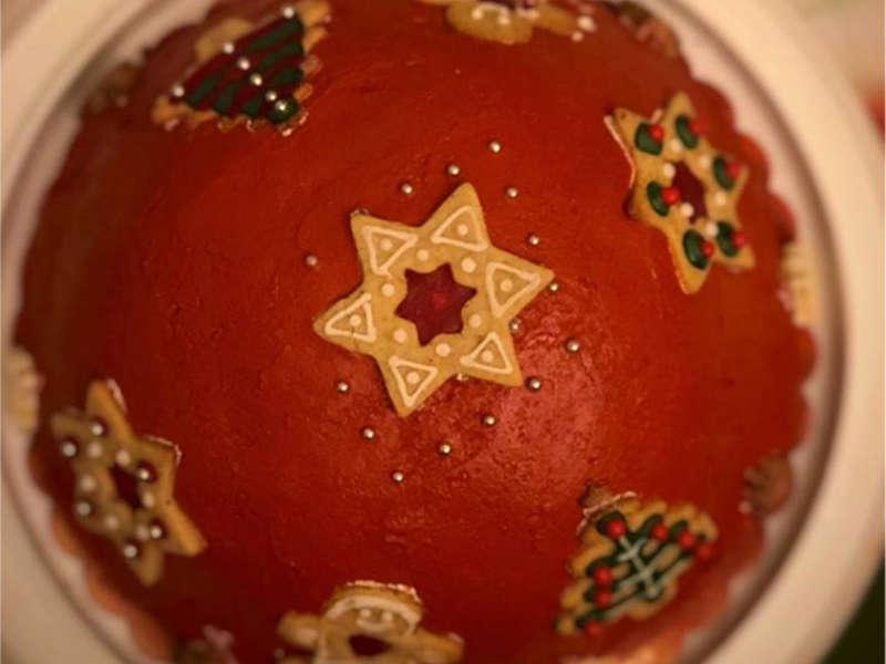 Zuccotto di Natale ricotta e cioccolato con pan di Spagna