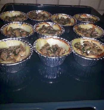 Ingredienti Torta salata mono porzione ai funghi con sfoglia senza glutine