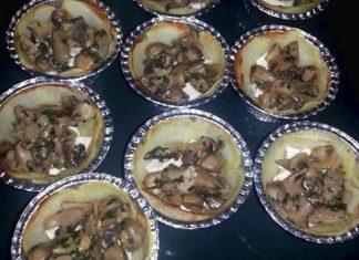 Torta salata mono porzione ai funghi con sfoglia senza glutine