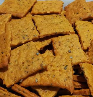 Ingredienti Crackers ricetta al gusto pizza senza lievito