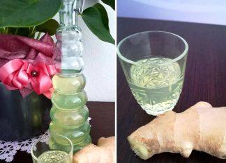 Liquore allo zenzero fresco fatto in casa