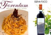 Maccarunar du Munacidd dello chef Savino Di Noia con vino TITOLO di Elena Fucci