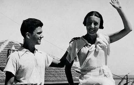 Marga D'Andurain con il figlio in Marocco