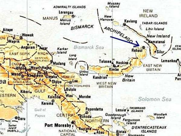Cartina, Maps Papua Nuova Guinea
