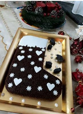 Ingredienti Ricetta torta Calza della befana al cioccolato e cocco