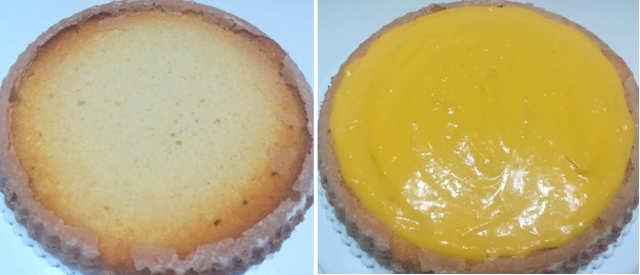 Preparazione Torta furba con crema pasticcera e panna