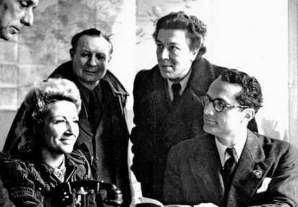 Jacqueline Breton, André Masson, André Breton e Varian Fry
