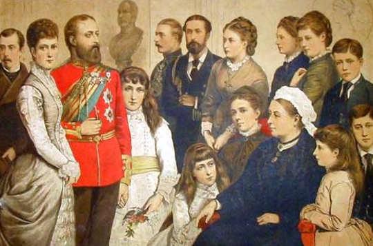 Ritratto Vittoria regina con famiglia