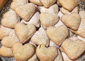 Biscotti con la nutella a forma di cuore senza glutine