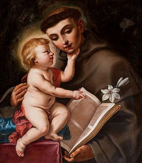 Opera di Elisabetta Sirani, Sant'Antonio da Padova e Gesù bambino