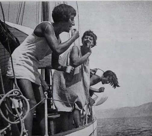 foto Ella Maillart viaggio in barca a vela