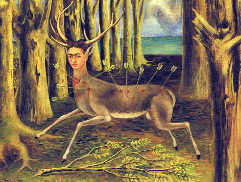 Autoritratto surrealista di Frida Kahlo