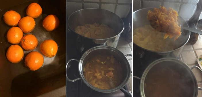 Preparazione Marmellata di arance ricetta fatta in casa