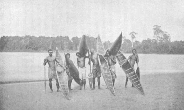 Uomini con canoe, Africa, Mary Kingsley