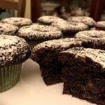 Muffin al cioccolato con Nutella e caffè