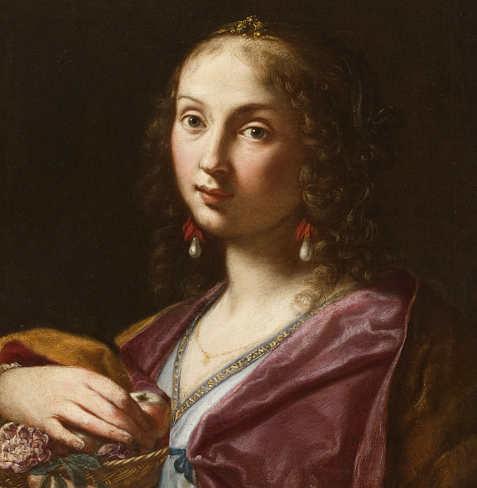 Ritratto di Ortensia Leoni Cordini nelle vesti di Santa Dorotea, Elisabetta Sirani
