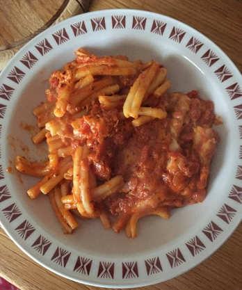 Ingredienti Ricetta Caserecce al forno senza glutine con sugo alla pizzaiola