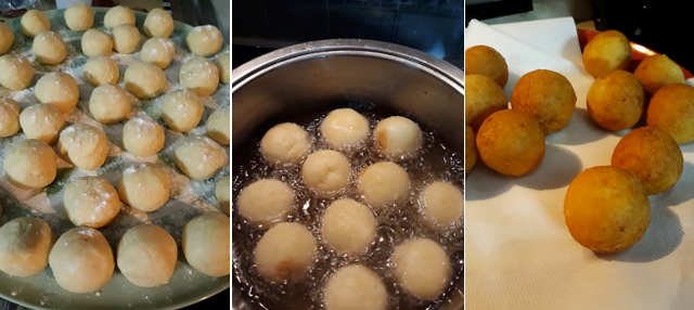 Preparazione Ricetta castagnole di ricotta e scorza di limone