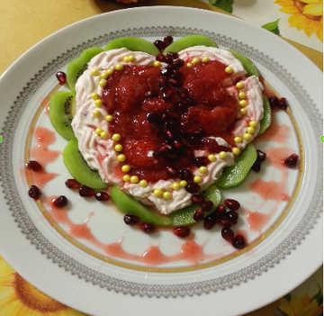 Preparazione Torta cuore spezzato con ricotta, fragole e maraschino