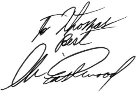 La grafia di Clint Eastwood: Grafia e firma recenti