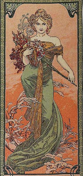 Quadri dedicati alla Primavera, Alfons Mucha 1