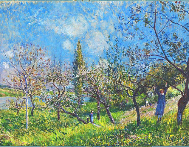 Quadri dedicati alla Primavera, Alfred Sisley