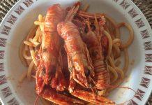 Spaghetti agli scampi senza glutine