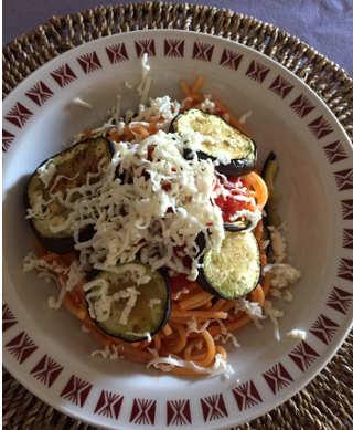 Ingredienti Spaghetti alla Norma senza glutine con melanzane arrostite