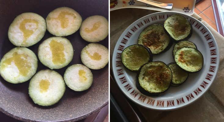 Preparazione Spaghetti alla Norma senza glutine con melanzane arrostite