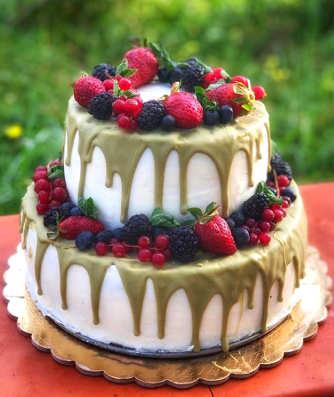 Ingredienti Torta di compleanno con crema di ricotta siciliana