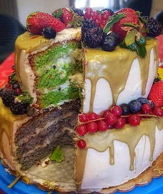 Ricetta Torta di compleanno con crema di ricotta siciliana