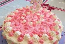 Torta di compleanno con crema pasticcera e bagna all'Alchermes