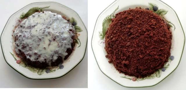 Preparazione Torta mimosa al cioccolato