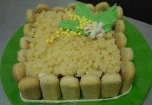 Torta mimosa al mascarpone