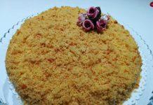 Torta mimosa all'arancia integrale