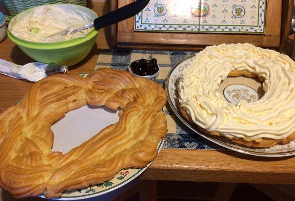 Preparazione Zeppolone di San Giuseppe senza glutine e senza lattosio