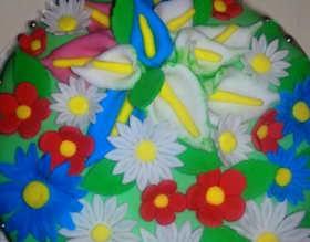 Torte di compleanno, torta primavera senza glutine e senza lievito