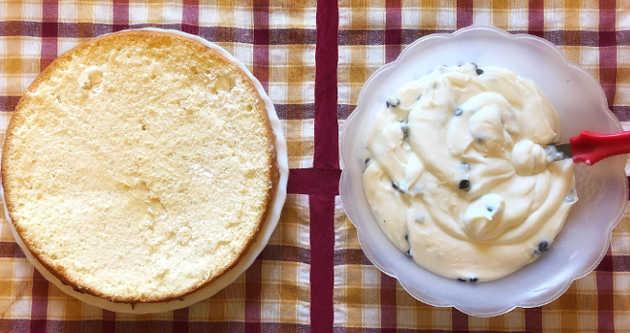Assemblamento della Cheesecake fredda a Cassata siciliana